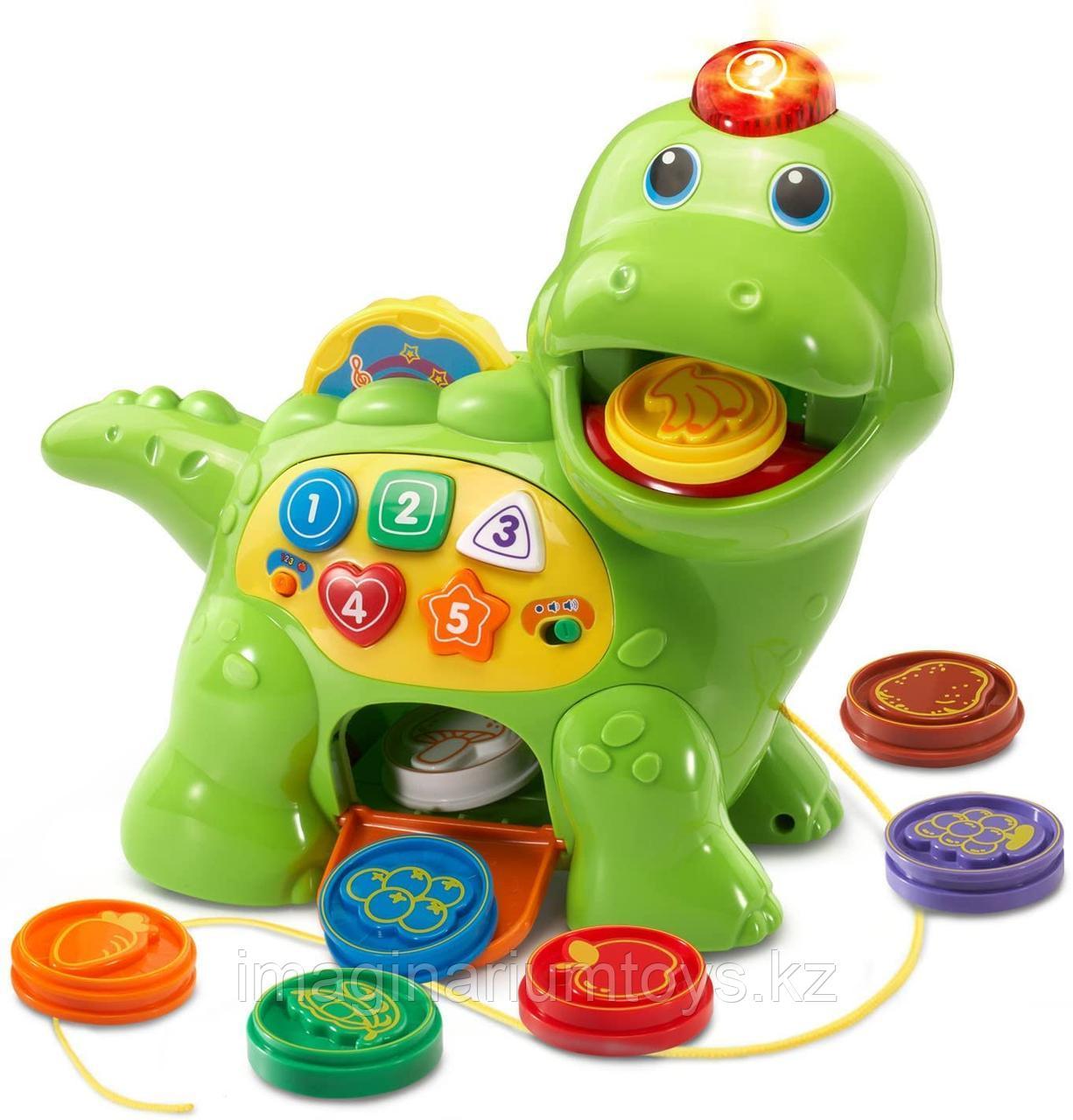 Развивающая игрушка для детей Динозавр «Корми и учись» Vtech