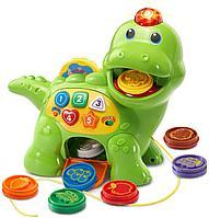 Развивающая игрушка для детей Динозавр «Корми и учись» Vtech, фото 1