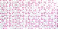Декоративные стеновые панели ПВХ (Мозаика розовая)