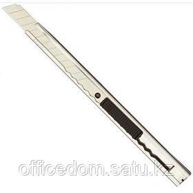 Нож канцелярский Attache 9 мм, металлический, с фиксатором