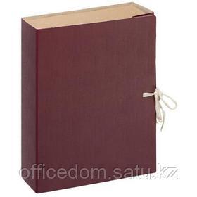 Папка архивная с завязками Attache Economy, 80 мм, картон/бумвинил, бордовый