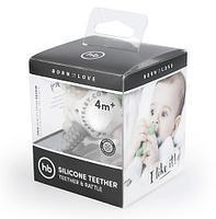 Прорезыватель силиконовый Happy Baby Silicone Teether ( Grey), фото 2