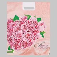 Пакет 'Розовые розы', полиэтиленовый с вырубной ручкой, 38х47 см, 60 мкм (комплект из 25 шт.)