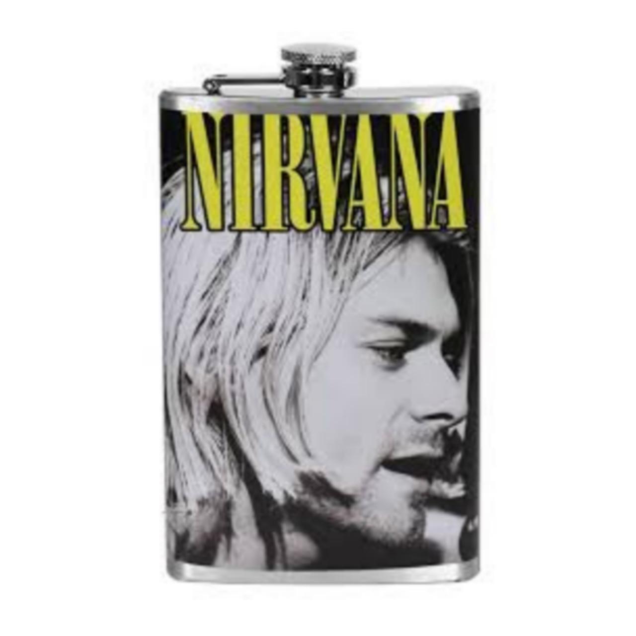 Металлическая фляжка Курт Кобейн - Nirvana (Нирвана)
