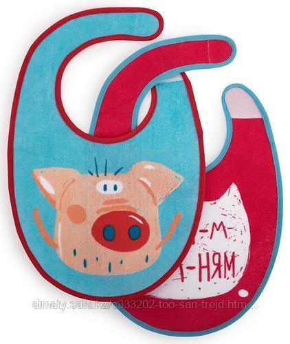 Набор нагрудников Happy Baby Set Terry Bibs Pig( 2 шт)