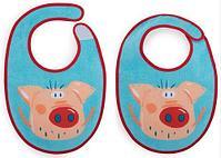 Набор нагрудников Happy Baby Set Terry Bibs Pig( 2 шт), фото 2