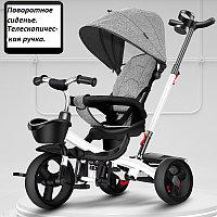 Детский трехколесный велосипед 6199 серый