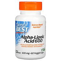 Doctor's Best, альфа-липоевая кислота, 600 мг, 60 вегетарианских капсул