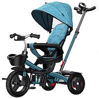Детский трехколесный велосипед 6199 синий
