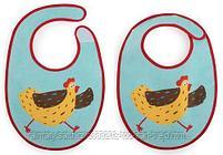 Набор нагрудников Happy Baby Set Terry Bibs Chiken( 2 шт), фото 2
