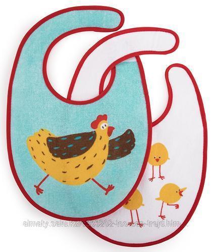 Набор нагрудников Happy Baby Set Terry Bibs Chiken( 2 шт)