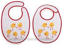 Набор нагрудников Happy Baby Set Terry Bibs Chiken( 2 шт), фото 3