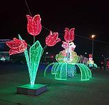 Изготавливаем: Каркасные светодиодные конструкции, для оформления улиц, скверов, парков, площадей., фото 3