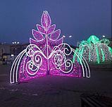 Изготавливаем: Каркасные светодиодные конструкции, для оформления улиц, скверов, парков, площадей., фото 2