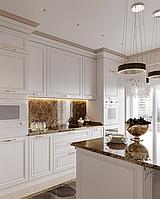Кухня классика с золотом