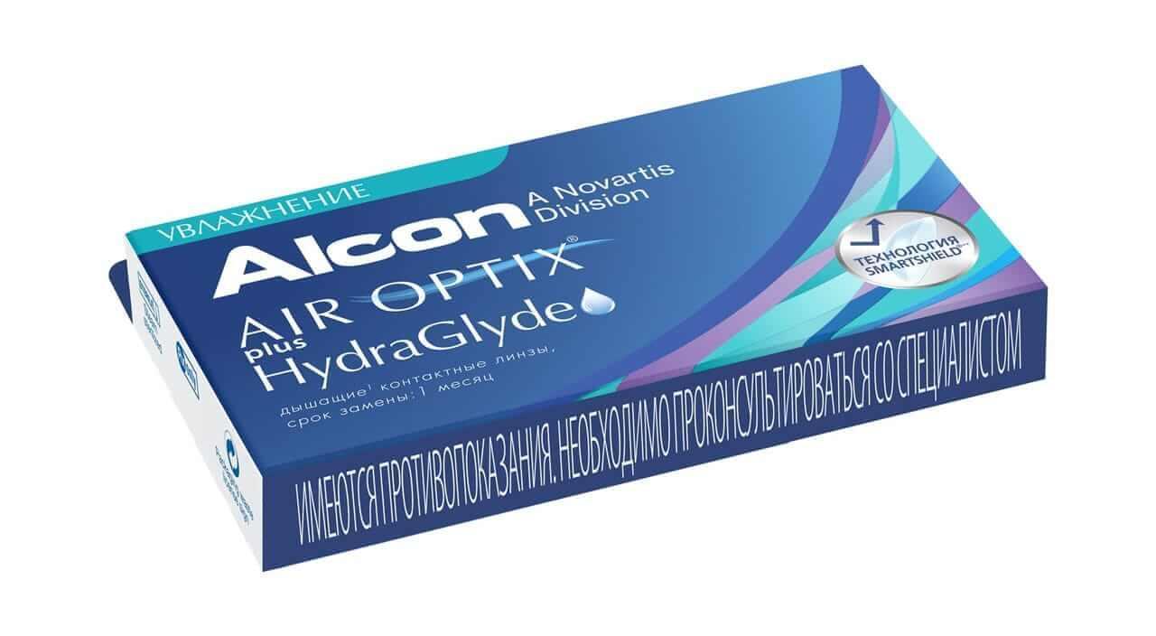 Контактные линзы Alcon AIR OPTIX plus HydraGlyde - фото 2