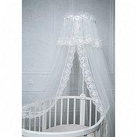 PITUSO Балдахин в детскую кроватку сетка/кружево 600*165 см Белый