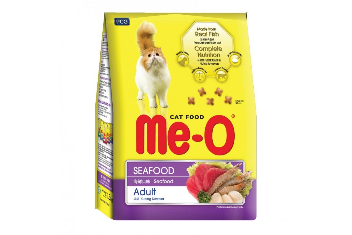 Me-O Adult Seafood для взрослых кошек, с морепродуктами