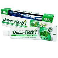 Зубная паста Dabur Herb l Basil (с зубной щёткой)