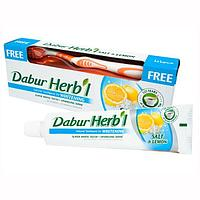Зубная паста Dabur Herb l Salt & Lemon (с зубной щёткой)