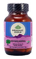 Ашвагандха (Ashwagandha) Organic India - баланс ментальной сферы, потенция, антистресс, 60 капсул
