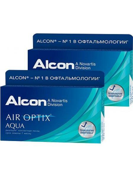 Контактные линзы Alcon Air Optix Aqua 3 линзы - фото 3