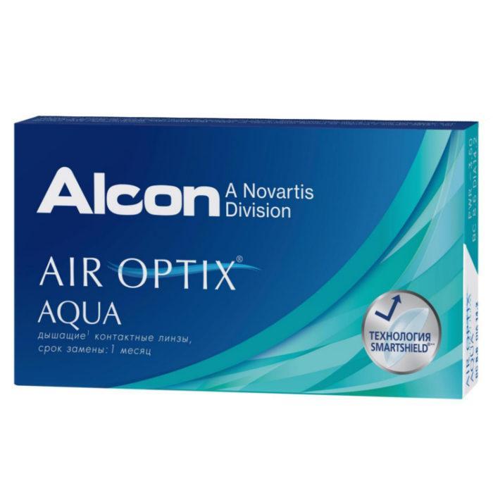 Контактные линзы Alcon Air Optix Aqua 3 линзы - фото 4