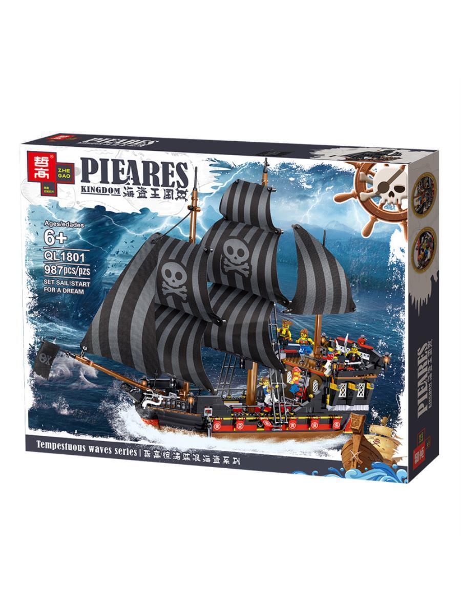 Конструктор QL1801 Пиратский Корабль Черная Жемчужина, 987 дет. (Аналог LEGO)