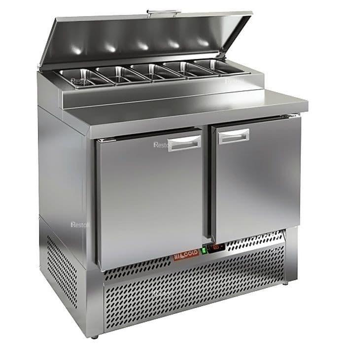 Стол холодильный для пиццы Hicold PZE1-11/GN (5xGN1/3)
