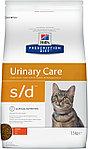 Hill's Prescription Diet s/d Urinary Care для растворения струвитных уролитов, курица, уп.1,5 кг