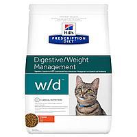 Hill's Prescription Diet w/d Digestive, для поддержания веса и при сахарном диабете, курица, уп.1,5 кг
