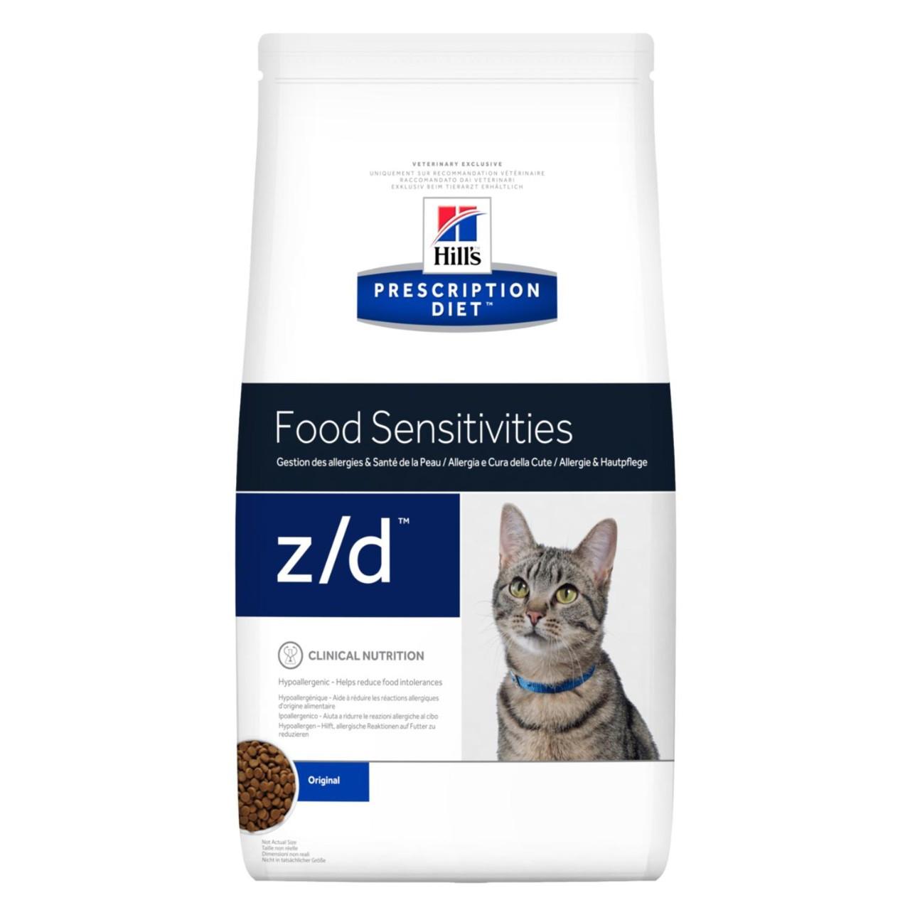 Hill's Preccription Diet z/d Food Sensivities при пищевой аллергии, уп.2 кг