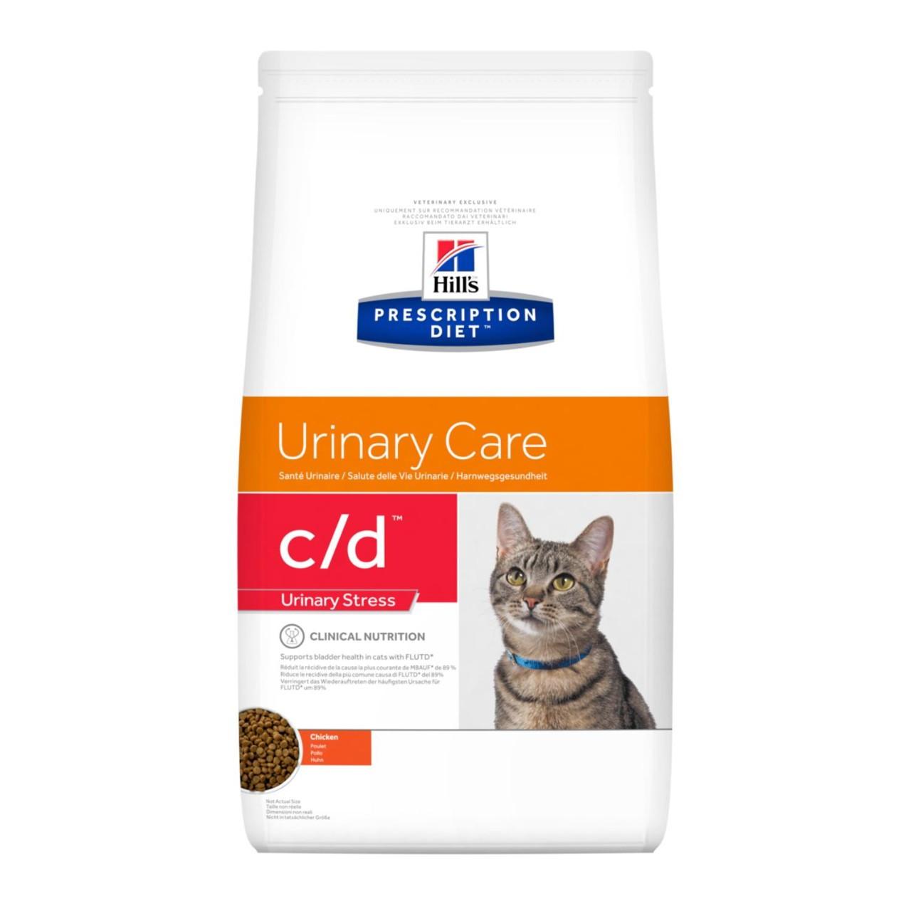 Hill's Prescription Diet c/d Urinary Care при идеопатическом цистите, курица, уп.1,5 кг