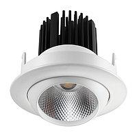357694 SPOT NT18 108 белый Встраиваемый светильник IP20 LED 3000K 10W 160-265V DRUM