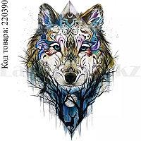 Временное тату Tattoo волк 210х150 mm TH-202