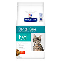 Hill's Prescription Diet t/d Dental Care поддержание здоровых десен и зубов, курица, уп.1,5 кг