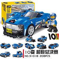 """Decool 31018 Конструктор 10 в 1 """"Супер финалисты"""", 217 дет. (Аналог LEGO)"""
