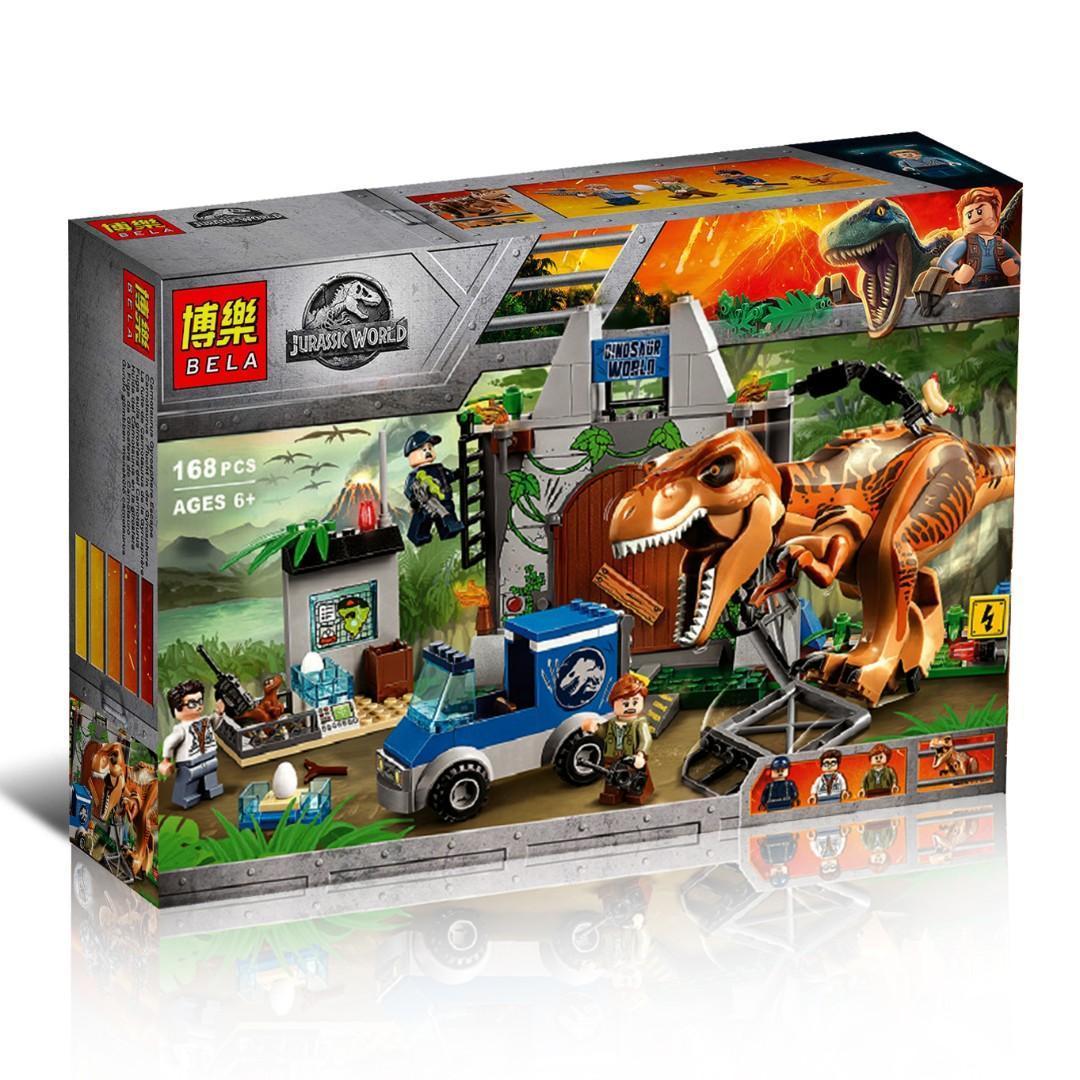 "Bela Dinosaur World 10920 Конструктор ""Побег Ти-Рекса"", 168 дет. (Аналог LEGO 10758)"