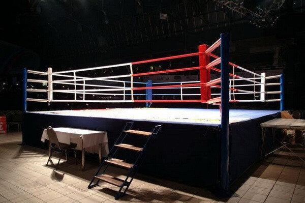 """Ринг """"Олимпийский KANVAS"""" на помосте 8,1 х 8 х1 м по канатам 6,1 х 6,1 м ВЕРСИЯ AIBA"""