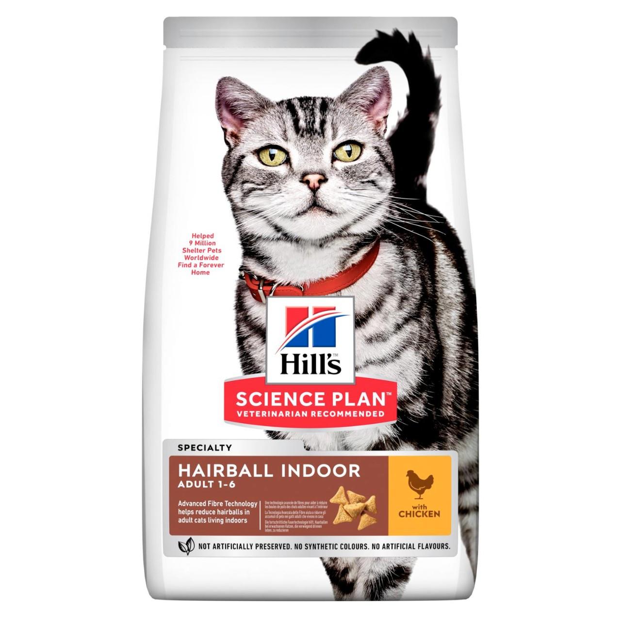 Hill's Hairball для выведения шерсти, курица, уп.1,5 кг