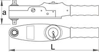 """Ключ динамометрический шкальный 1/4"""" - 260 UNIOR, фото 2"""