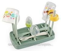 Сушка для бутылочек и аксессуаров Happy Baby Foldable Drying Rack Olive, фото 2