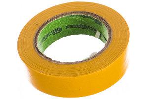 Изолента ПВХ, 15 мм*10 м., желтая//СИБРТЕХ