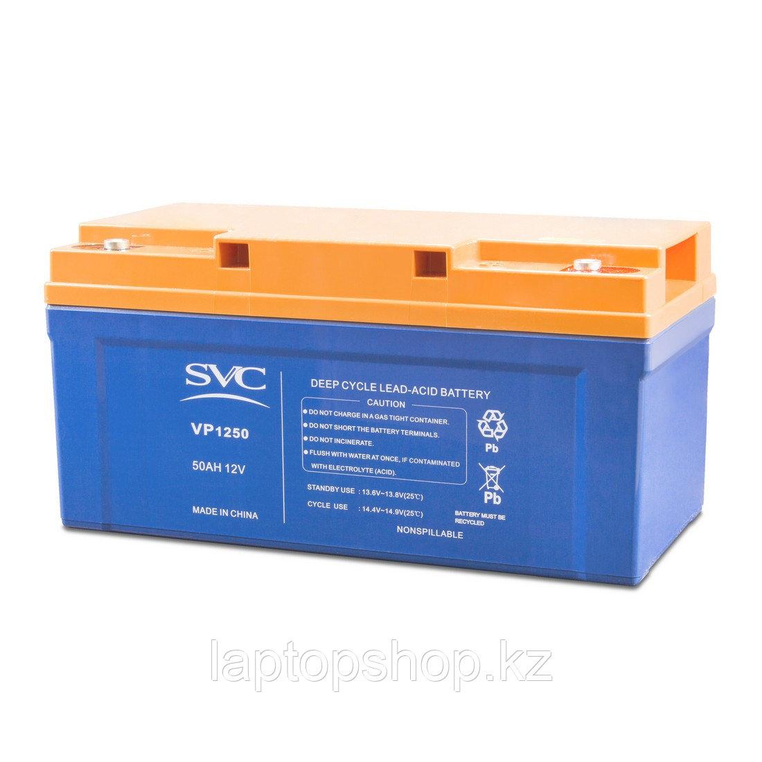 Аккумуляторная батарея SVC VP1250, 12В 50 Ач