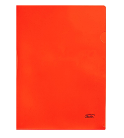 "Папка-уголок пластиковая ""Hatber"", А4, 180мкм, непрозрачная, красная"