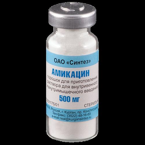Амикацина с/т 0,5г флакон амп.Синтез