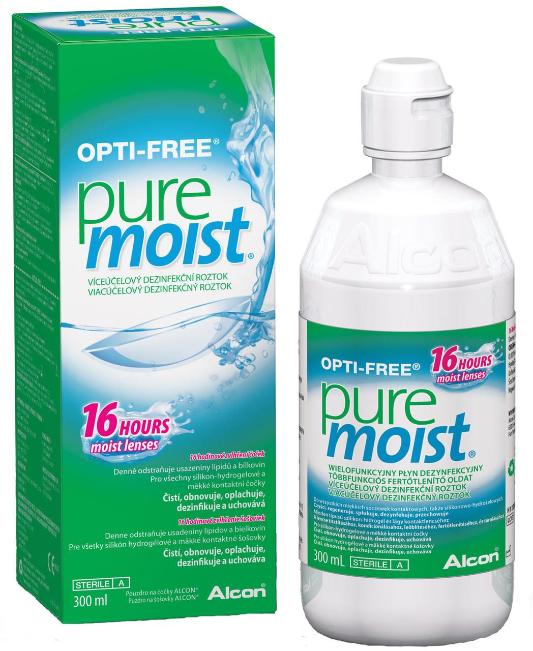 Раствор для контактных линз Alcon Opti Free Pure Moist 300 мл - фото 3