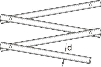 Складная линейка (2 метра) - 710W UNIOR