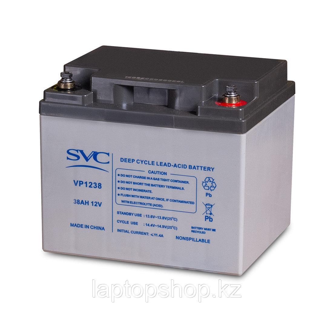 Аккумуляторная батарея SVC VP1238, 12В 38 Ач