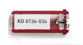 """Брелок для ключей """"Durable Key Clip"""", красный, 6 штук в пакете"""